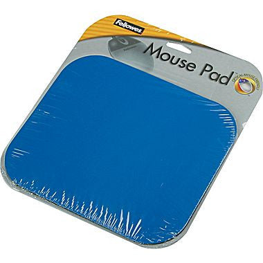 "Fellowes ® Polyester Mouse Pad, Nonskid Rubber Base, Blue, 8""(D)"