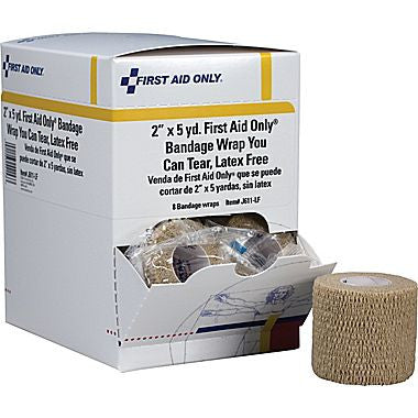 "First Aid Only™ Cohesive Elastic Bandage Wrap You Can Tear, Latex-free, 2"" x 5 yd"
