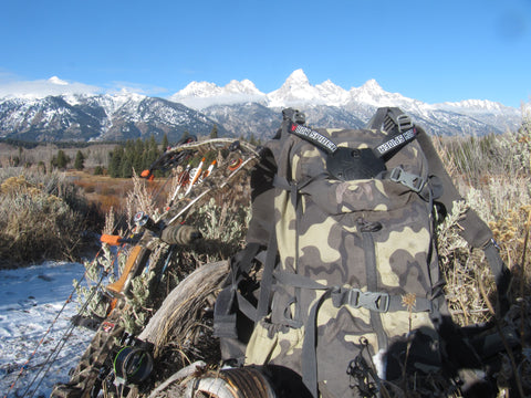 Bow Spider back country archery solution, Kuiu pack  with Mathews bow for archery elk hunting gear