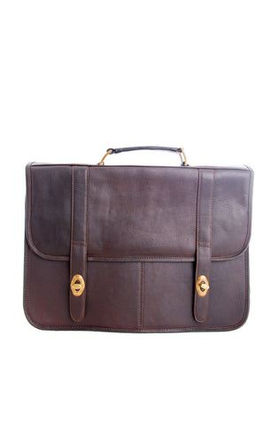 Frank Briefcase Dark Brown