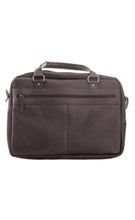 Load image into Gallery viewer, The Wall Street Briefcase Dark Brown