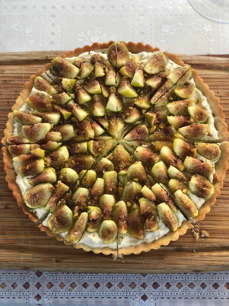 Farm Fresh Fig, Honey and Pistachio Tart