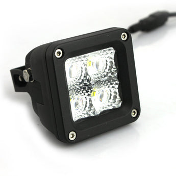 BurnsMoto - 20 Watt LED Off-Road Flood and Spot Driving Lights - 3 Inch