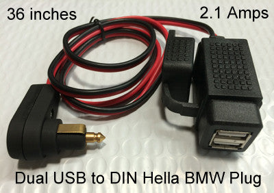Dual Port Usb Charger Weatherproof With Sae Din Hella Or