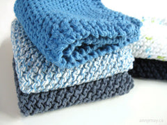 Easy knitted dishcloth
