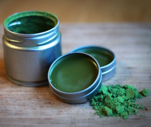 Matcha Lip balm to soften and heal chapped or cracked lips for the soft healthy lips