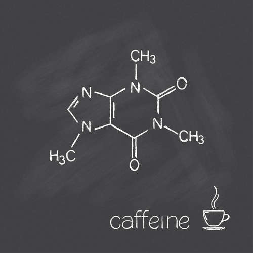 Caffeine molecule is the stimulant found in many plants which used to boost energy and alertness temporarily