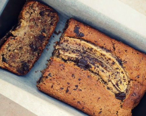 Vegan Green Tea Matcha Banana Bread with chocolate chips brings the sweetest and delicious dessert for your party table