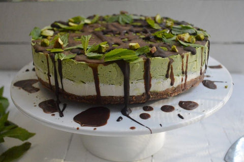 Raw Matcha Mint Cheesecake recipe (no Bake)