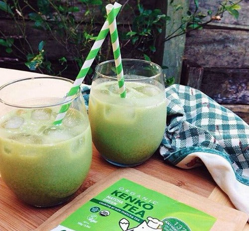 A glass of refreshing iced matcha latte can replenish your energy for any physical activities, including cleaning.