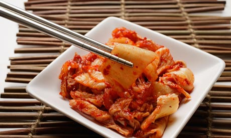 Kimchi, famous Korean dish, fermented cabbages with specialty sauce