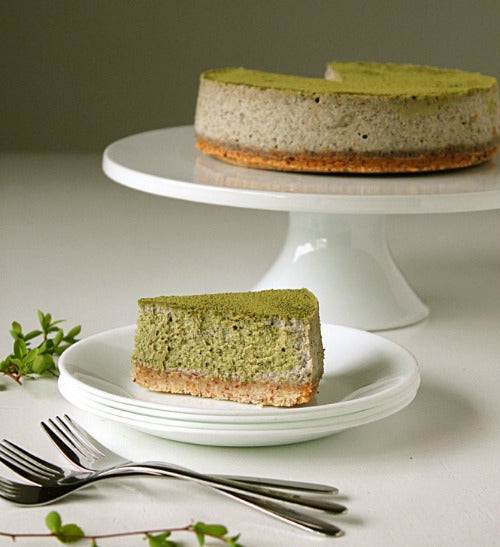 Matcha Black Sesame Cheesecake by Fanny from Oh Sweet Day