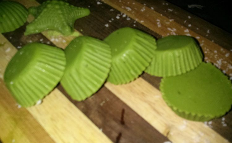 Close up of Matcha Chocolates