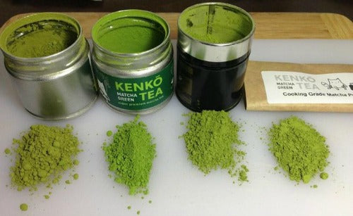 Color of different Matcha Grades