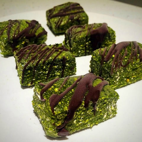 Matcha fudge chocolate protein bars vegan recipe