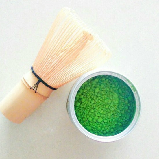 Ceremonial Matcha Grade and Bamboo Tea Whisk