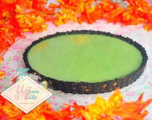 Matcha Green Tea Cream Tart with Royaltin Oreo Crust, no baked