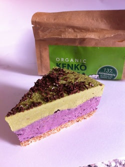 Matcha White Chocolate Berry Cake, vegan, raw, sugar free, dairy free