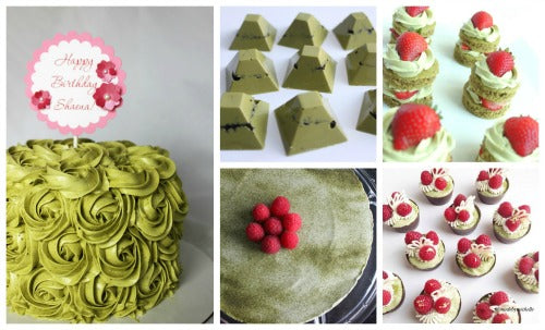 Delicious homemade Matcha Green Tea desserts, cakes, chocolates, etc. @madebymichelle
