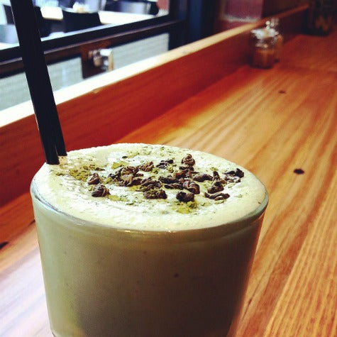 Matcha Milkshake with Vanilla bean