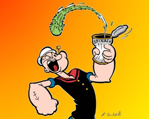 Popeye's super spinach and its health benefits