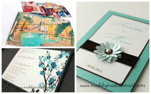 Handmade stationery - invitation cards by Michelle Mark (IG @madebymichelle)
