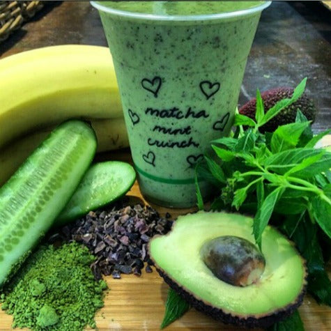 Matcha mint crunch super smoothie from The Health Emporium