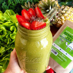 Matcha Smoothie with Kenko Tea Cooking Matcha Grade