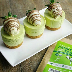 Matcha cheesecake using Kenko Tea matcha cooking grade