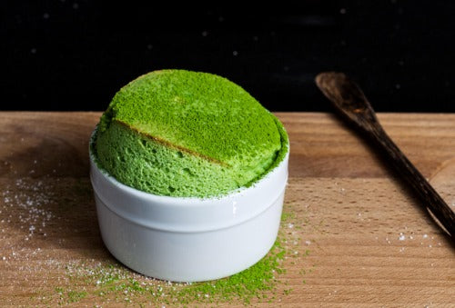 This wobbly soft green tea souffles are the great addiction to your Holidays