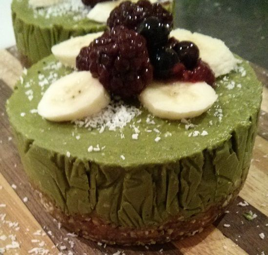 Chilled Raw, vegan Matcha cake recipe
