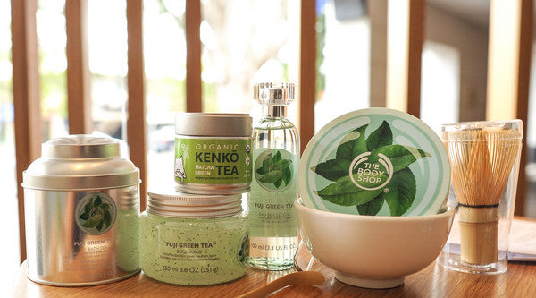 Body Shop and Kenko Tea