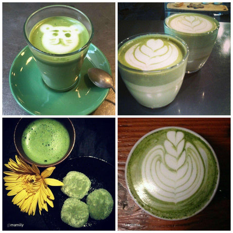 Matcha Latte Art and Green Tea Lattes
