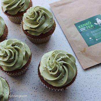 Matcha Cupcakes with Green Tea frosting