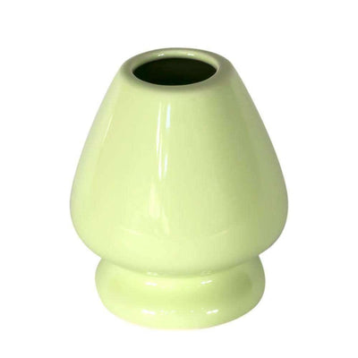 ceramic matcha whisk stand from japan - green