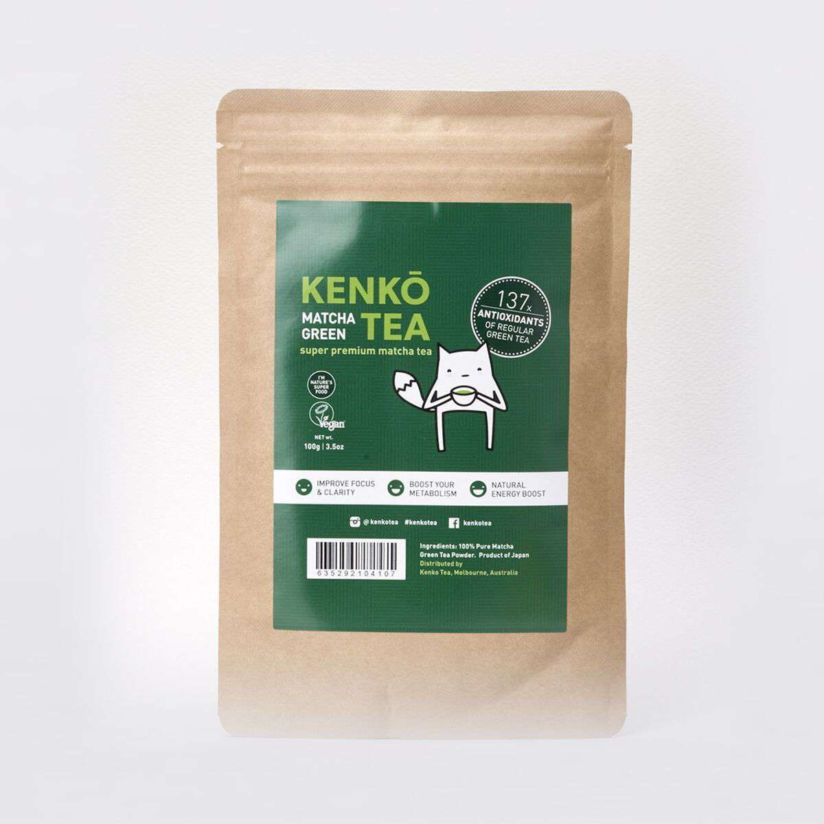 Ceremonial Grade Matcha Powder - 100g Bag