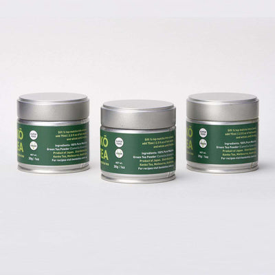 Ceremonial Grade Matcha Powder - 3 Tins of 30g