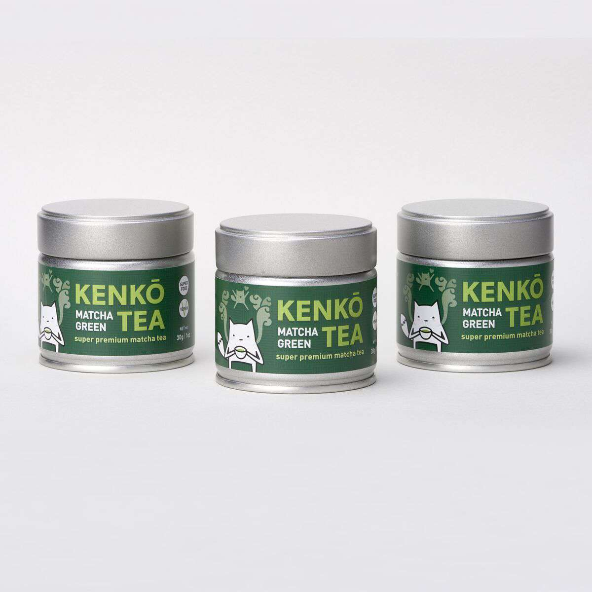 3 Pack - Premium Ceremonial Matcha 30g Tin