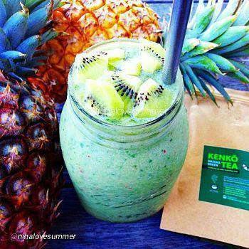 Matcha + Pineapple Smoothie from Kenko Cooking Matcha