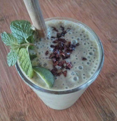 Organic matcha and cacao Smoothie