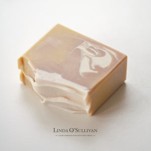 Leather & Oudh handmade soap by British soapmaker Linda O'Sullivan