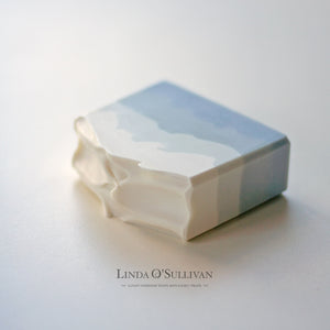 Layered pale blue handmade Soap made by Linda O'Sullivan