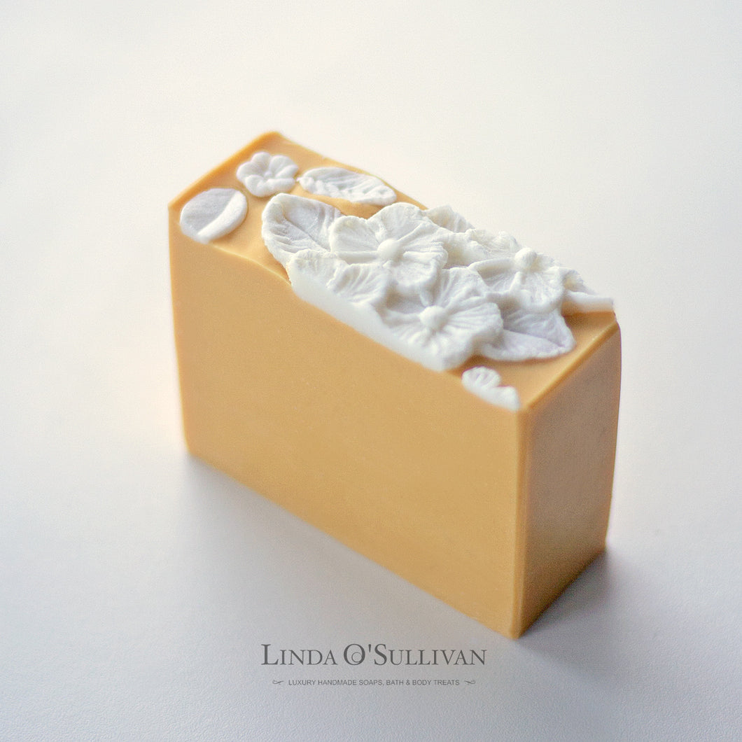 Orange Blossom Soap handmade in the UK by Linda O'Sullivan