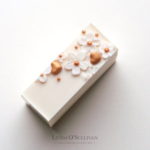 Pear Blossoms handcrafted soap by British soap artisan Linda O'Sullivan