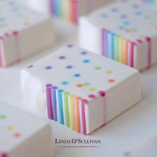 Load image into Gallery viewer, Handmade Rainbow Soap by Linda O'Sullivan