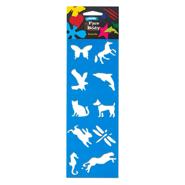 Face Paint Stencil Pack - Animals - Glow Sticks Wholesale