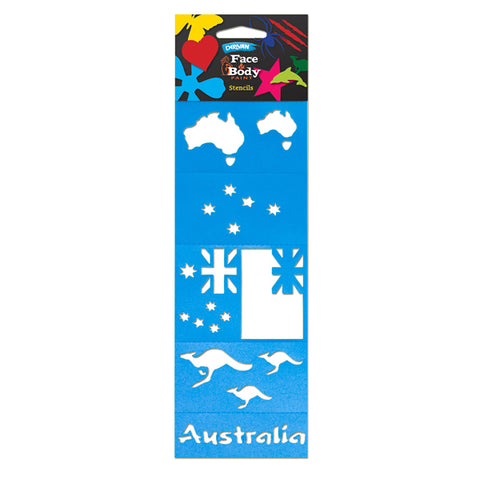 Face Paint Stencil Pack - Aussie - Glow Sticks Wholesale