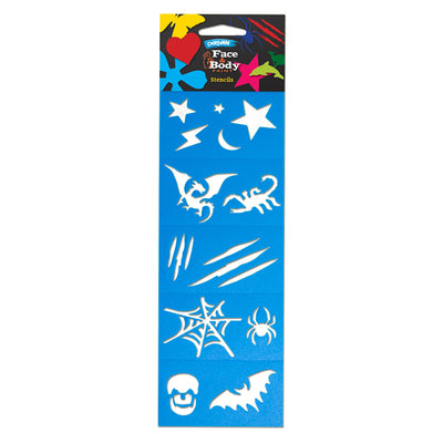 Face Paint Stencil Pack - Boy - Glow Sticks Wholesale