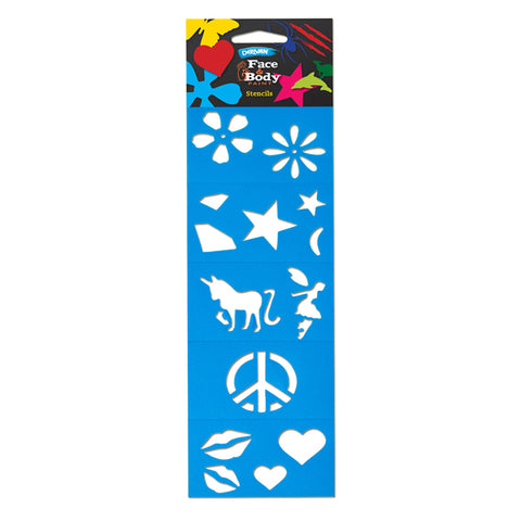 Face Paint Stencil Pack - Girl - Glow Sticks Wholesale