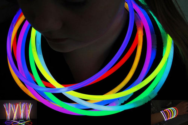 (New Stock Arrives Xmas Eve) Glow Necklaces (Box of 100) 56cm long!! - Glow Sticks Wholesale